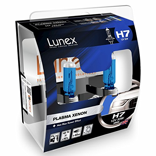 LUNEX H7 PLASMA XENON, Bombillas halógenas Faros , 12V 55W PX26d, 5000K duobox (2 units)