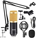 StarCart BM 800 Professional Condenser Microphone for Singing Sound Dynamic Set with Shock