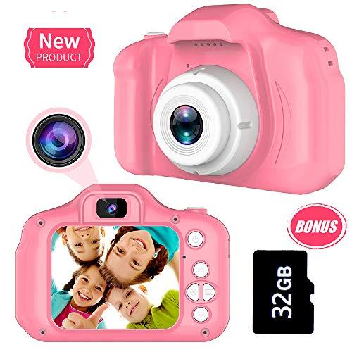 Geschenke zum 3-8 Jahre Alt Mädchen Joy-Fun Digitalkamera zum Kinder 8.0 MP Kinder Kamera Video Aufzeichnung Elektronisch Spielzeuge Geburtstag Geschenke Rosa
