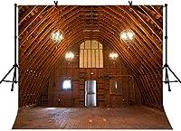 新しい10x7ft素朴な納屋の家の写真の背景秋をテーマにした背景誕生日パーティーの背景ベビーシャワーの装飾バナー写真スタジオ小道具270