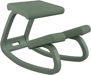Varier Variable Balans Monochrome Original Kneeling Chair Designed by Peter Opsvik (Fern)