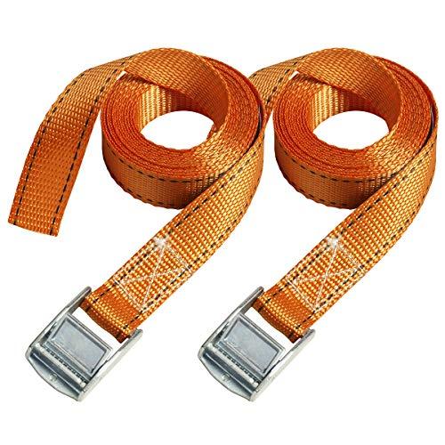 Master Lock 3210EURTAT FastLink Spanngurt mitZamak legierten Bügel, Orange, 2, 5m x 25 mm Gurt, 2-er Set