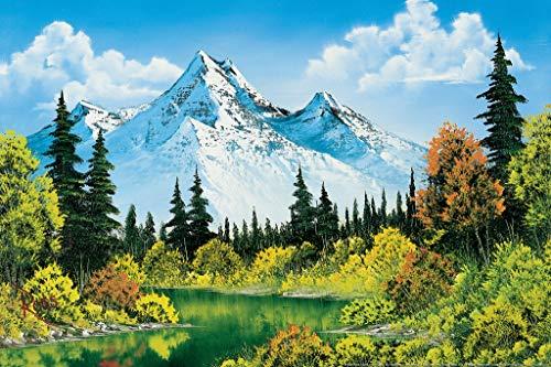 Bob Ross Meadow Lake Canvas Art ...