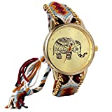 Jewelrywe Reloj de Pulsera Mujer Precioso Elefante...
