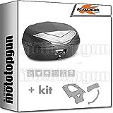 kappa maleta k466nt 46 lt + portaequipaje monolock compatible con yamaha n max...