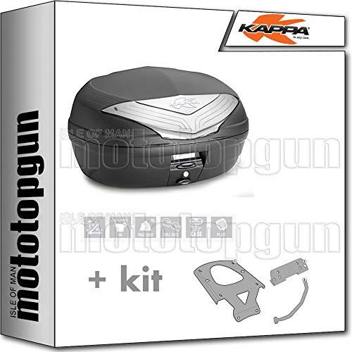 kappa maleta k466nt 46 lt + portaequipaje monolock compatible con yamaha xenter 125 150 2020 20