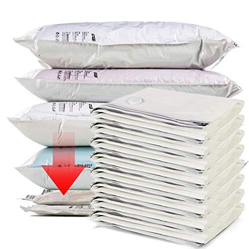 KOARBI Bolsas Premium compresión al vacío ropa. 8 piezas talla Grande. No necesita bomba ni aspirador, compresión a mano. Bolsas estancas reutilizables