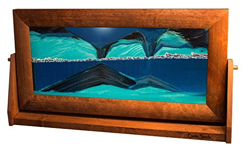 Exotic Sands | Moving Sand Pictures - X Large Alder (Ocean Blue) XL11 American Made Quality - Best Idea! Great Executive Men's Gifts.