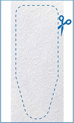 Bügeltisch Polsterung 140x55 - (NEU) 100{a04a6cae25fc172da37846414835cf6b4da152182cc2574a474493550f8eaeb8} Filz Bügelbrett Auflage XXL - Dickes Polster, einfach zuschneiden, Dampfbügeleisen geeignet