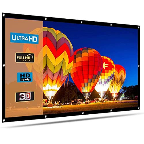 Henzin 100 Inch Projektor Bildschirm 16: 9 HD 4K tragbare Projektionswand Faltbare für Heimkino-Kino Indoor Outdoor Front- und Rückprojektion