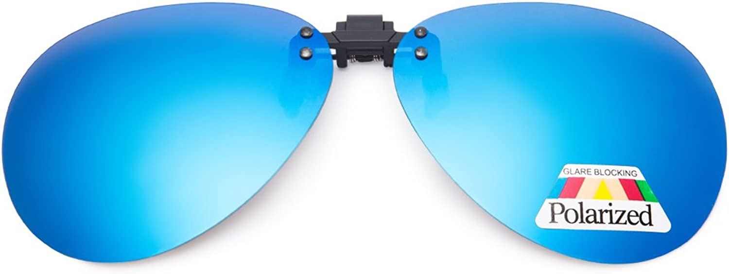 EYEGUARD Unisex Polarized Clip On Flip Up Sunglasses for Driving Traveling