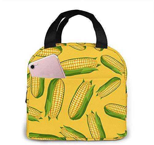 Bolsa de almuerzo reutilizable Sweet Golden Ripe Corn, bolsa de almuerzo aislada y fresca, adecuada para viajes de picnic de oficina y escolares