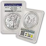 2020 1 oz American Silver Eagle MS-70 (First Strike - Struck at The West Point Mint) by CoinFolio $1 MS70 PCGS