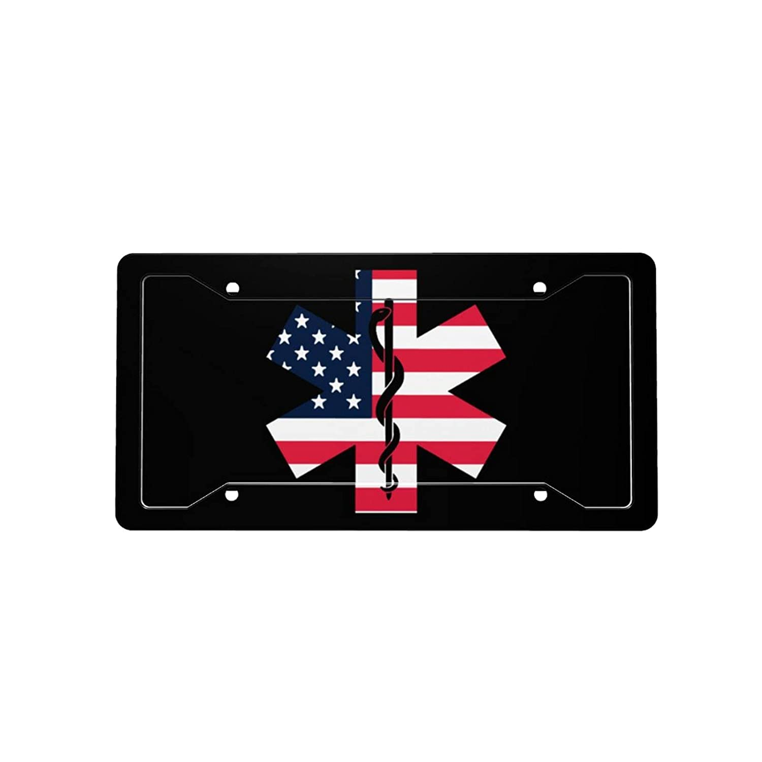 American Flag Star of security Life depot License Car Front Decorative V Plate