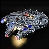 HYQX Kit de luces LED para Lego 75192 Star Wars Millennium Falcon, juego de iluminación de luces compatible con Lego 75192 (juego de luces LED solamente, sin kit de lego)