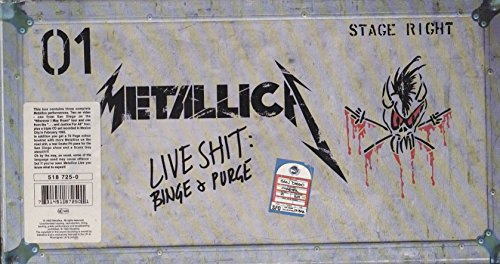 Live Shit: Binge & Purge (3 CDs & 3 VHS Tapes) Box set, Live Edition by Metallica (1993) Audio CD