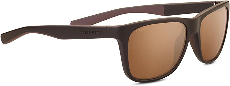 Serengeti Livio Sunglasses, Sanded Brown & Dark Brown