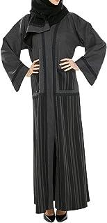 Arabeska Abaya For Women - M, Gray, Arb-78