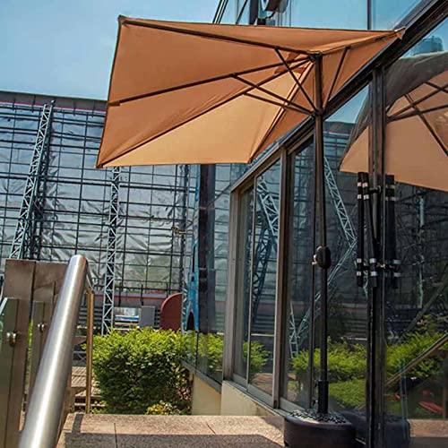 Sombrilla Terraza Parasol Jardin Medio Rectángulo Sombrilla de Patio, Protección UV De 2,5 × 1,3 M Sombrillas de Mesa, contra el Parasol de Pared, para Ventana de Balcón de Pared Sombrilla