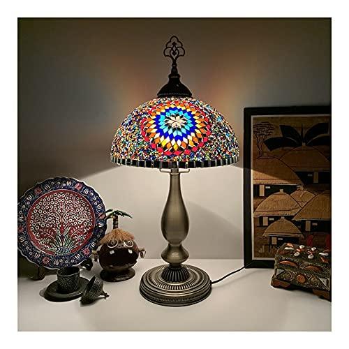Lámpara De Mesa Bohemia, Luz Retro De Cristal De Mosaico Turco, para Dormitorio, Sala De Estar, Hotel Nocturna Romántica Decoración de la Boda en casa (Color : F)