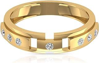 Anelli di fidanzamento vintage HI-SI, colori chiari, 14 k, in metallo, certificato IGI, per anniversario di matrimonio, ma...