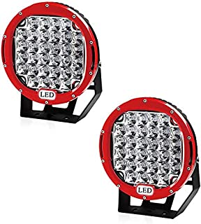 Willpower 2pcs LED Offroad Scheinwerfer 12V 24V Arbeitsscheinwerfer Led Auto 252W 23CM Zusatzscheinwerfer 6000K Wasserdicht IP67 Rückfahrscheinwerfer Led für Traktor Truck SUV UTV ATV Rot