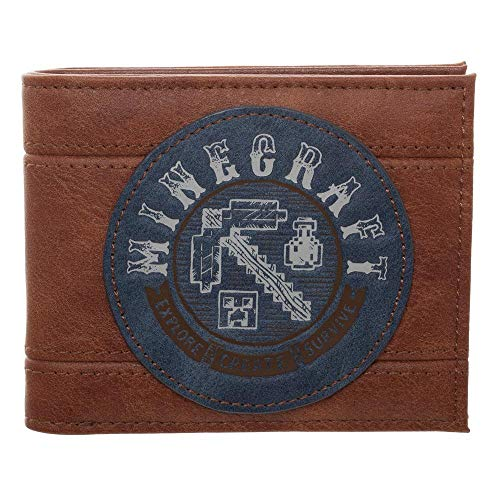 Bioworld INT Minecraft Bifold Wallet Minecraft Adventure Wallets