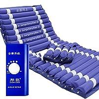 Lxn メディカルホーム用PVCインフレータブル抗デビビタスマットレス、電動ポンプとベッドパット穴(深いブルー) (サイズ さいず : B)
