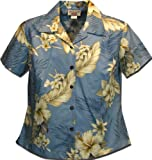 Ladies Hawaiian Shirts Blue The Luau