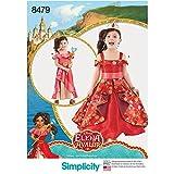 Simplicity 8479Pattern 8479 Disney's Elena of Avalor - Disfraz Infantil (Papel, 3-4-5-6-7-8), Color Blanco