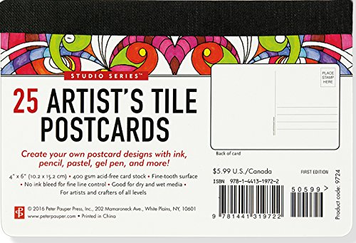Studio Series Artist's Tile Postcards