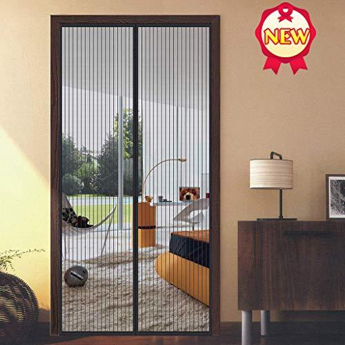 Aboygo Fliegengitter Insetto 85x225cm Hochwertiges Netz Verstärkter Magnetkraft Insektenschutz Mehrere Größen für Schwingfenster Kellerfenster - Schwarz