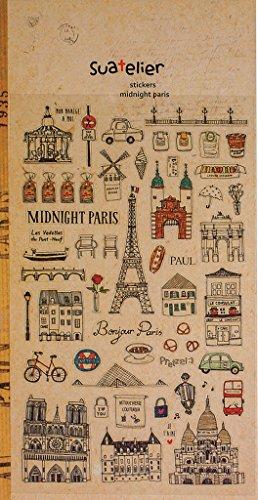 1arco con 56pequeñas Paris Francia Pegatinas, etiquetas Vintage Nostalgie, pegatinas tamaño ZW. 0,5y 4,5cm, Country