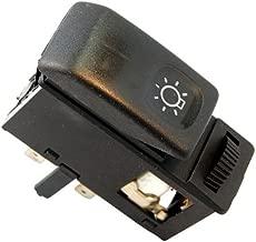 HQRP Head Light/HeadLight Switch Dash Button for VW JETTA Mk2 (19E, 1G2) 1985 1986 1987 1988 1989 1990 1991 1992 replacement plus HQRP UV Meter