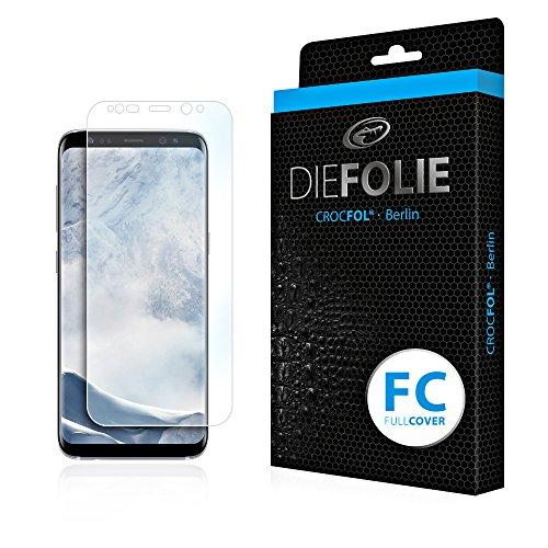 Crocfol Schutzfolie vom Testsieger [2 St.] kompatibel mit Samsung Galaxy S8 - selbstheilende Premium 5D Langzeit-Panzerfolie inkl. Veredelung - für vorne, ganzes Bildschirm