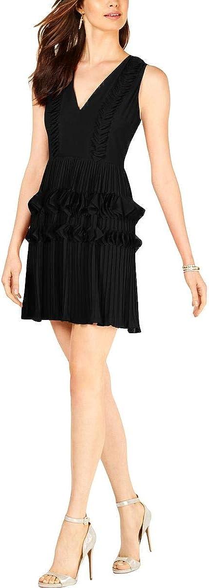 Foxiedox Women's Pleated Applique Dress