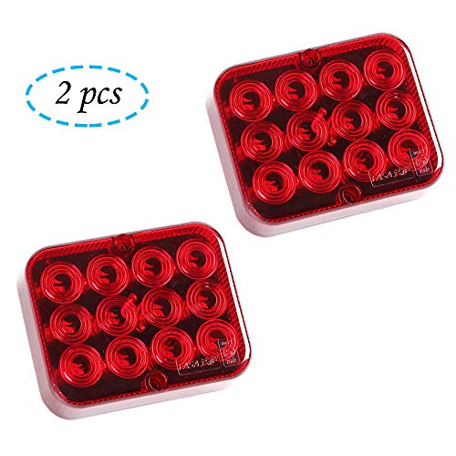 AOHEWEI 2 x LED Nebelschlussleuchte für Anhänger Nebelscheinwerfer Rot 12V 24V Nebellampe Wasserdicht für Auto Anhänger Wohnwagen LKW (rot)