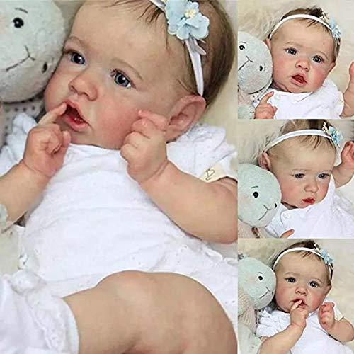 Silicone Reborn Bébé Poupées Fille 23 Pouces 58 Cm Silicone Souple Vinyle Corps Entier Réel...
