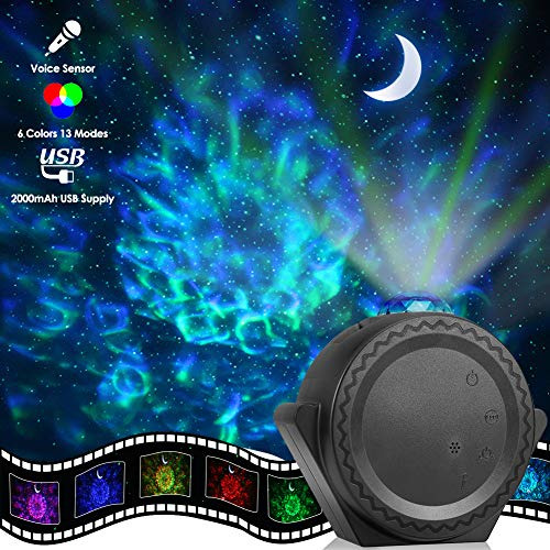 Star Projector, ECOWHO Planetarium Projector, Night Light Projector 3-in-1 Ocean Wave Star Moon...