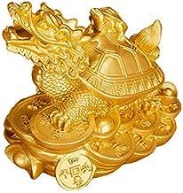 Yingred Feng Shui Dragon Turtles Small Turtle Statue Home Decor.Symbol Fertility Longevity,Best Housewarming Congratulatory Gift,Feng Shui Decor (Gold)