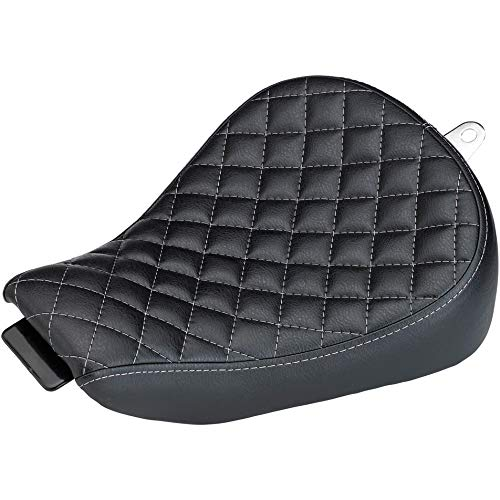 Biltwell S8-VIN-04-BD Sporty 8 Seat (04-06 & 10-17 Sportster) -Black Diamond