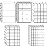 15 Sheets Plastic Coin Pocket Pages 5 Sizes Standard 9-Hole Coin Money Currency Pocket Inserts Collecting Sleeves for Coin Stamp Stickers Currency Badges and Other Collection Storage Supplies