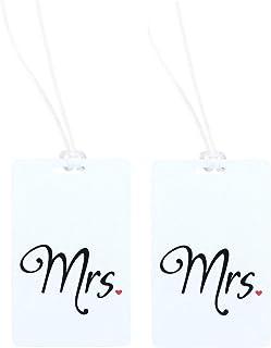 Mr & Mrs Luggage Tag Mrs & Mrs Travel Tag Mr & Mr Wedding Honeymoon Tags – 2pc