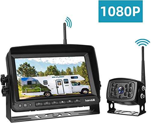 Wireless Backup Camera Monitor Kit, Reversing Rear View Camera System and Monitor Kit 7 inches, IP69 Waterproof Pickup Reverse Camera with Night Vision -1080P Transmission backup Cameras Vehicle
