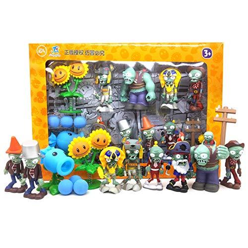 Piante di alta qualità contro giocattoli zombi 2 set completo di sparatutto in silicone morbido per bambini Regali di compleanno bambole zombie giocattolo