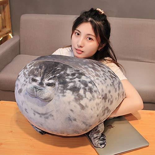 peluche foca,cojines peluche,Sello Juguete,peluches grandes,squishy,abrazar,animales,almohada siesta,80cm sello gigante realista león marino gris animal acuático suave muñeco de peluche regalo