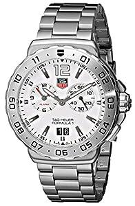 TAG Heuer Men's WAU111B.BA0858 Formula 1 White Dial Grande Date Alarm Watch image