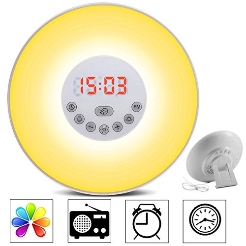 totobay Wake Up Light, 2nd Generation} Sunrise Simulation Snooze Alarm Clock Bedside Night Light...