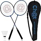 L + H WORLD XXL Federball & Badminton Set | Federballschläger gemischte Farben inkl. Federball & Schläger-Tasche im Set | Federballspiel für Erwachsene Kinder ideal für Freizeit & Outdoor Spiele