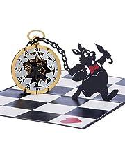 Cardology | Alice in Wonderland Pocket Watch Pop Up Card | Alice in Wonderland Cadeaus voor Verjaardag, Alice in Wonderland Party Nodig Kaarten uit, Alice in Wonderland Memorabilia, Handgemaakte Kaarten